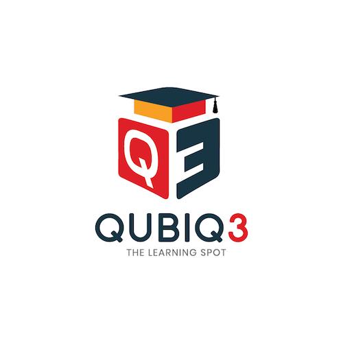 qubiq 3 logo design by fenix advertising agency in kannur