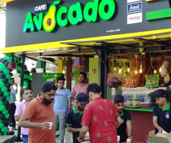 Acrylic LED name board for Avocado by fenix advertising agency, the best advertising agency in kannur