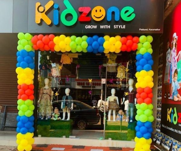 Acrylic name board for Kidzone by Fenix advertising agency. no. 1 leading advertising agency in kannur